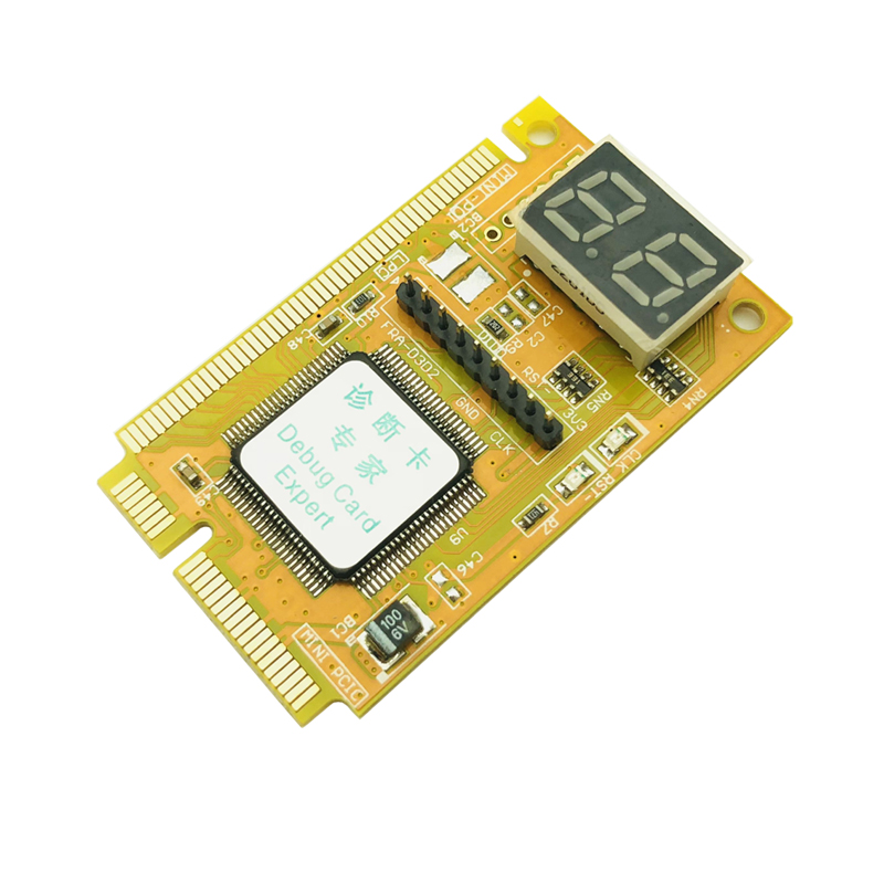4-Layers PCB Stable Signal Laptop Motherboard Diagnostic Tool Mini PCI PCI-E LPC Post Troubleshooting Diagnosis Card Tester