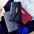 High Quality PU Women Wallet Three Folds Design Lady Purse Long Style Female Money Clip Envelope Shaped Constract Colour Wallet