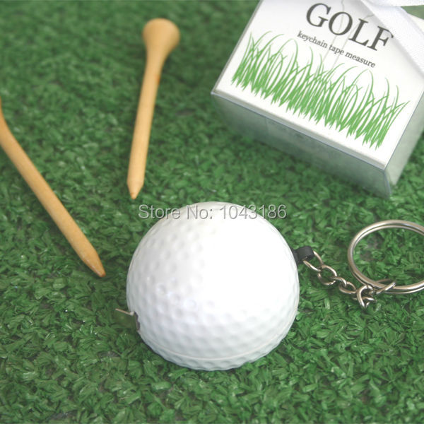 Free Shipping baby shower favor gift and giveaways for guest A Leisurely Game of Love Golf Ball Tape Measure 100pcs/lot