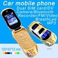 Newmind flip f15 linterna desbloqueado dual sim tarjetas mp3 mp4 súper pequeño modelo del coche del teléfono móvil mini teléfono móvil de la célula p431
