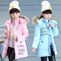 Thick Winter children jackets Girls Boys Coats Hooded Faux Fur Collar Kids Outerwear Cotton Padded Baby Girl Boy Snowsuit