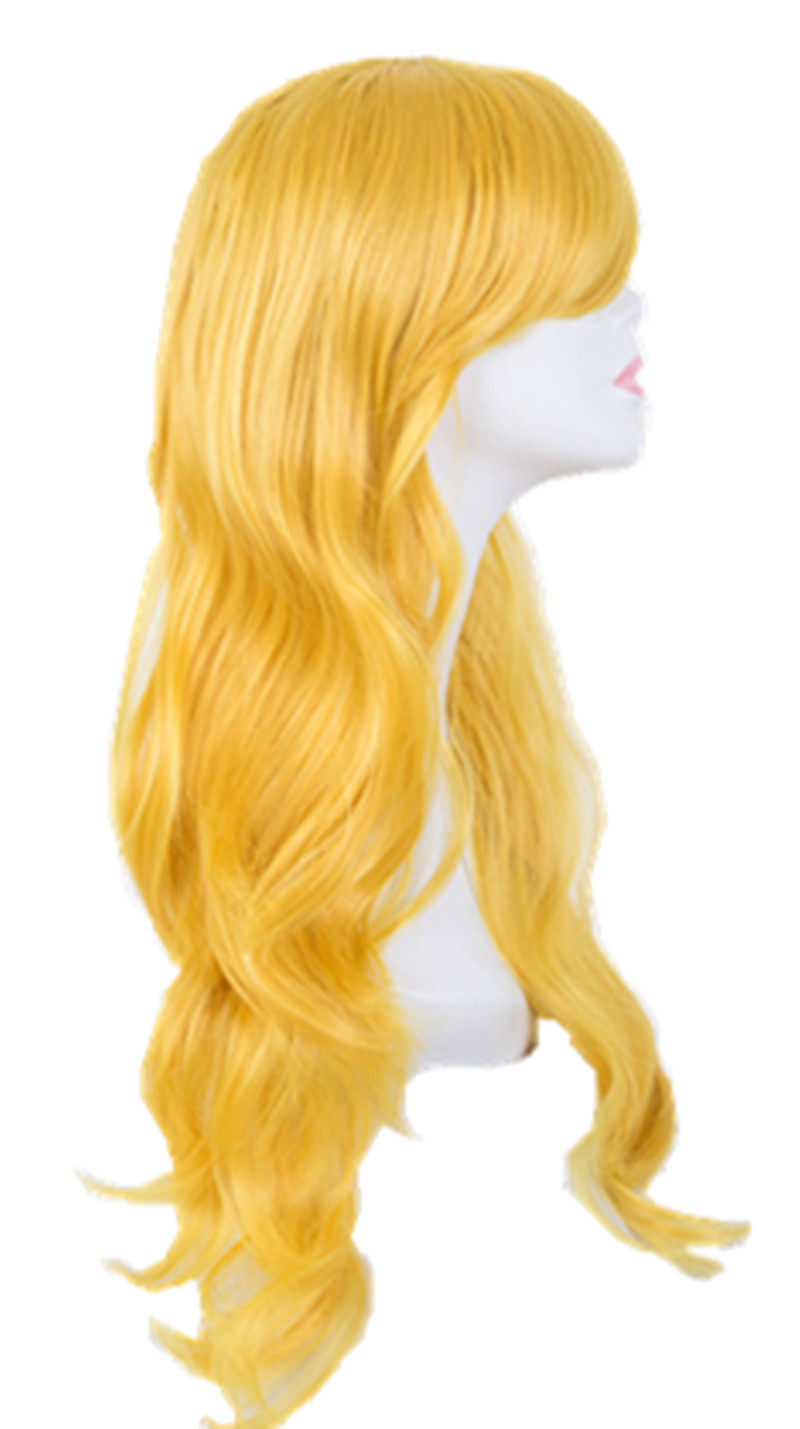 Synthetic None-lacewigs Hair Extensions & Wigs Cosplay Wig Fei-show Synthetic Heat Resistant Fiber Short Wavy Hair Women Ladies Costume Halloween Carnival Events Hairpiece