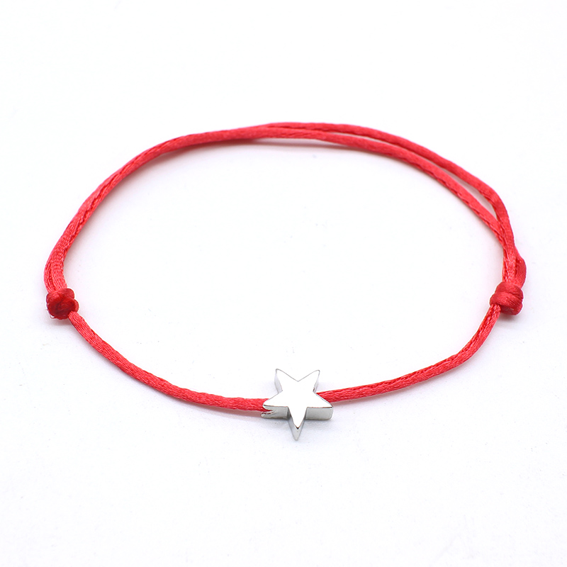 NEW Simple Charm Bracelet black color Minimalist Adjustable Rope String Lucky Bracelet heart star For Women lovers bead jewelry 5