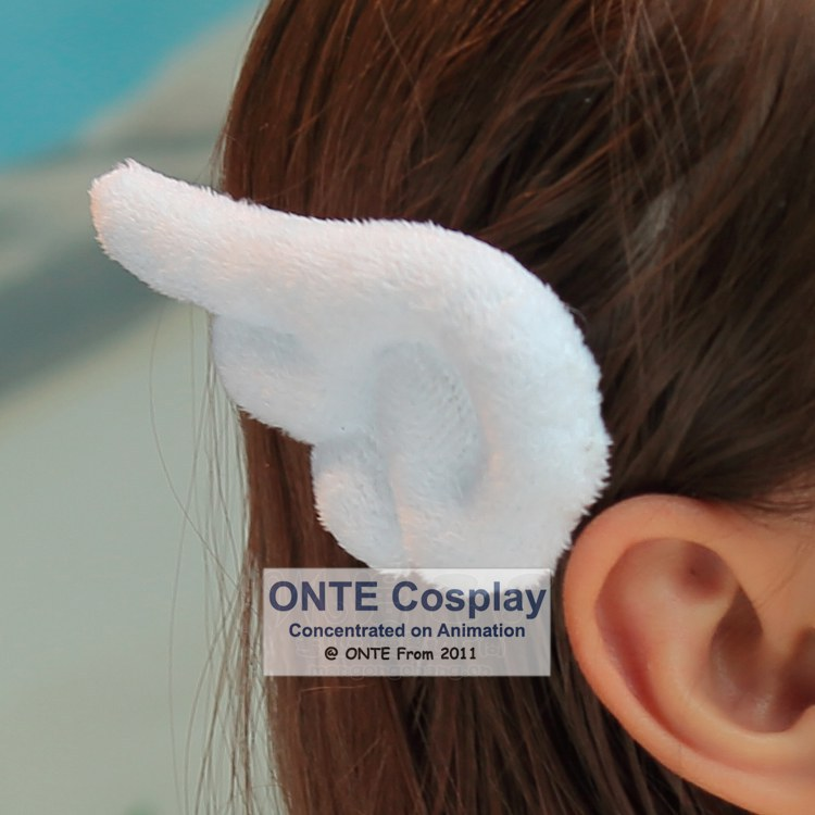 1 Pair Japanese Anime Fashion Cosplay Beautiful Lovely Lady Angel Wing  White Hair Accessory Fury Hairpin Headwear