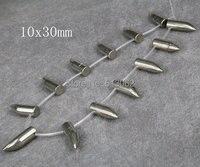 15,5 zoll strang Natürliche Eisen Pyrit Horn Kugel Anhänger perlen, Hämatit Horn Halsketten Schmuck, Top Gebohrt perlen 10x30mm