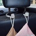 1 пара  автомобильные крючки спинки сиденья с кристаллами и стразами  держатель для сумки  сумочки  вешалки  автомобильные крючки для хранен...