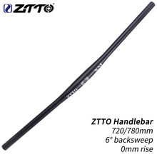 ZTTO XM MTB Bicycle Handlebar Black Handlebar 720mm 780mm 31.8mm Aluminum Alloy Flat Bar Straight Thick Tube 6 degree Backsweep(China)