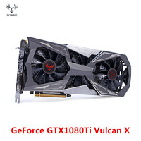 Colorful NVIDIA IGame GeForce GTX1080Ti Vulcan X Video Graphic Card 11G GDDR5 1480MHz 16nm 352bit With