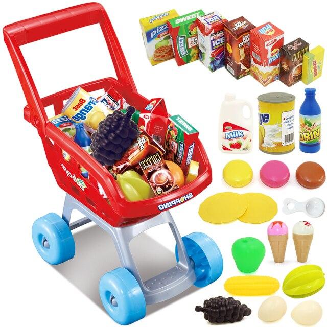 2015 Juguetes Carritos De La Compra Supermercado Conjunto Nino Carro