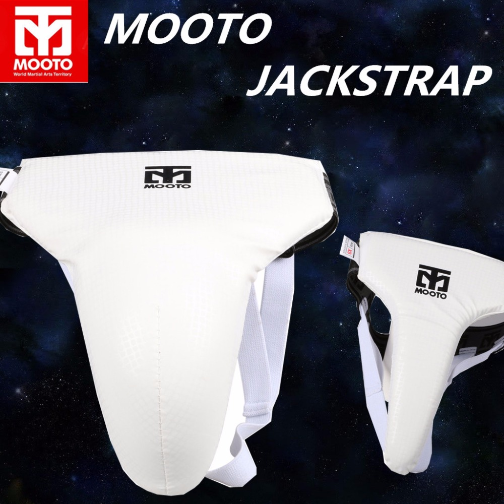 New PU leather adult kids MOOTO Taekwondo groin guard cup Protector WTF Muay Thai TKD support male Female crotch Guard Jockstrap