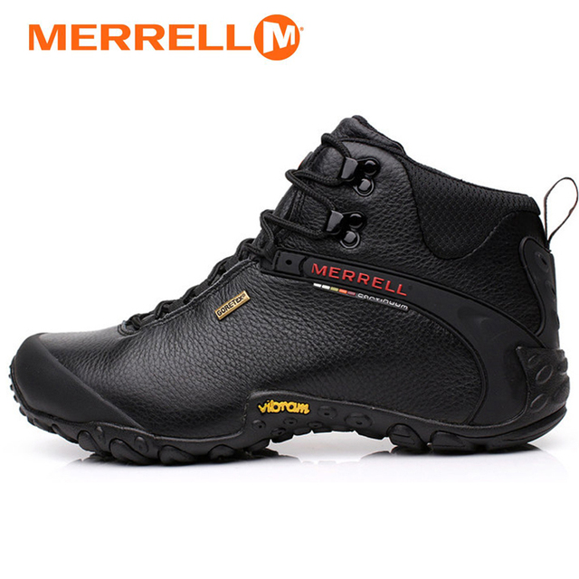 608bbde739c Merrell Men s Outdoor Sports Leisure Tourism Wearable Genuine Leather  Climbing mountaineering Hiking shoes meledje 39-44