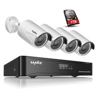 SANNCE 4CH HD 1080P HDMI P2P POE NVR Surveillance System Video Output 4PCS 2 0MP IP