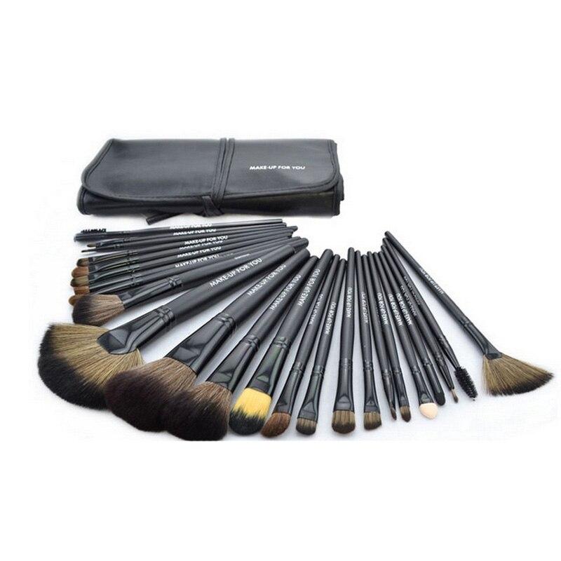 Professional 24pcs/set Makeup Brushes Cosmetics Tools Makeup Kit Female Eyeliner Blush Foundation Brushes Set With Bag