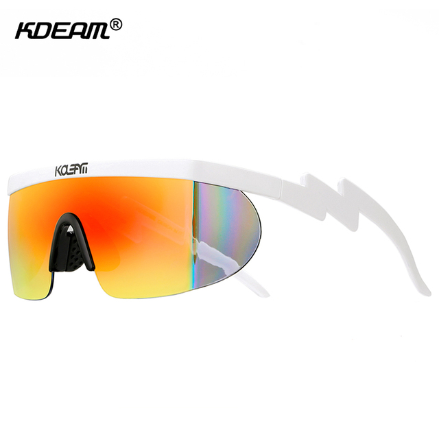 9ee41daf54 KDEAM Superstar Sherman s Brodie Sunglasses Men Oversized Shades Full  Colors Sun Glasses One-piece Lens with Adjusting Nose Pad