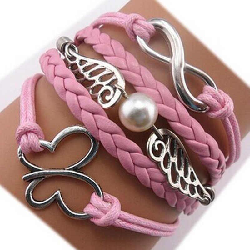 Stylowa bransoletka damska Boho romantyczna Bileklik Pulseira Unisex bransoletki ręcznie robiona damska biżuteria Pulseras para bransoletka L0513