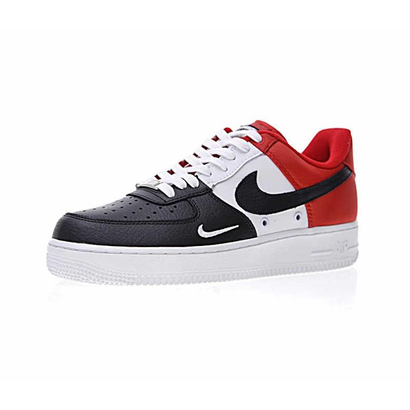 Оригинальный и аутентичный с Nike Air Force 1 Low мини Swoosh Для Мужчин's Скейтбординг обувь Спорт на открытом воздухе кроссовки 2018 Новое поступление 823511-603