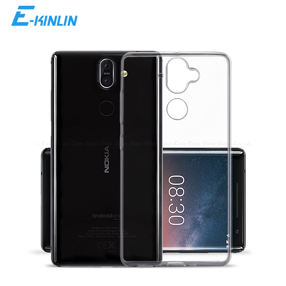 Clear <font><b>Silicone</b></font> <font><b>Back</b></font> <font><b>Cover</b></font> For <font><b>Nokia</b></font> 8.1 7.2 7.1 6.2 <font><b>6.1</b></font> 5.3 5.1 4.2 3.1 3.2 2.3 2.2 2.1 1 2 3 5 6 8 Sirocco 9 7 <font><b>Plus</b></font> TPU Case image