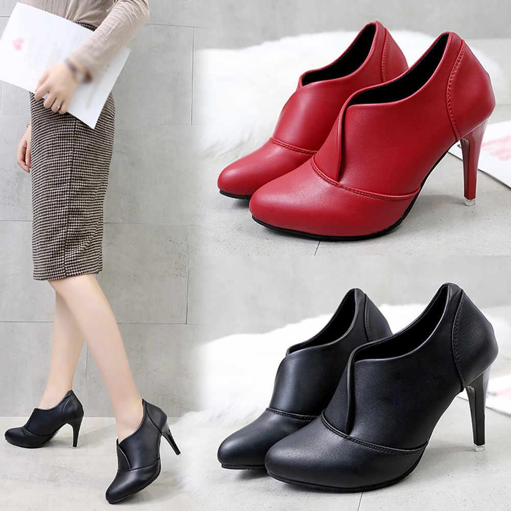 Женская обувь с острым носком; однотонные сапоги без застежки; высокие сапоги до бедра на высоком каблуке; # XTN