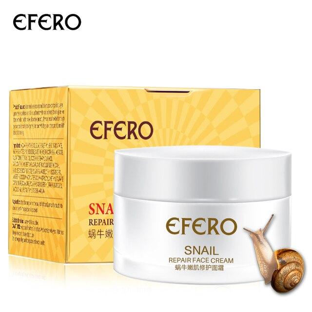 efero Snail Essence Repair Face Cream Moisturizing Whitening Anti Wrinkle Acne Treatment Firming Life Snail Cream for Face Care