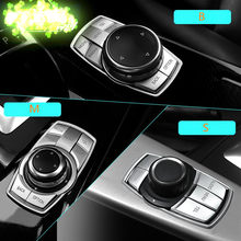 Автомобильный Стайлинг, мультимедийные декоративные наклейки на кнопки для BMW X1 X3 X5 X6 E70 E83 E90 E91 F15 F16 F20 F21 F30 F10, автомобильные аксессуары