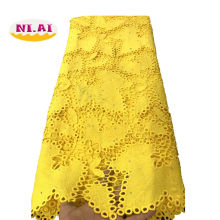 Yellow African Cord Lace Fabric Milk Silk Water Soluble Dress Lace Stones 2019 High Quality Nigerian Guipure Lace Fabric NI1812(China)