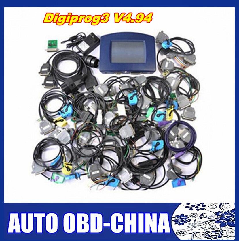 Цена за DHL Бесплатная доставка полный Программное обеспечение Полный набор кабели предлагают Digiprog3 последним Digiprog III v4.94 Digiprog 3 v4.94 Пробег программист