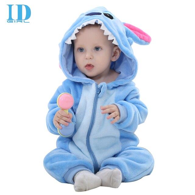 64ad3728ec64 IDGIRL Baby Winter Rompers Newborn Cartoon Flannel Baby Boy Animal ...