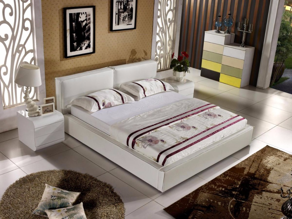 Letto Matrimoniale 2018 Soft Soft Bed Bed Cabecero Cama Modern Bedroom Furniture Muebles Para Casa Promotion No King Hot Sale