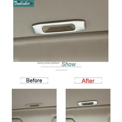 Tonlinker 1 pcs diy car styling new stainless steel the sunroof hand cover case stickers for.jpg 250x250