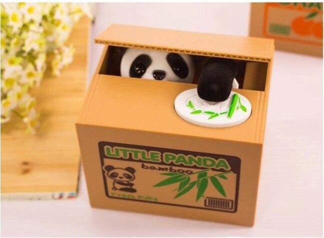 Cute Panda Cat Dog Mischief Saving Box Toys Automatic piggy bank funny novelty Christmas gift Hello kitty Gags fun antistress