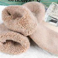 Gemütlichen Kaschmir Weiche Socken Frauen Warm Verdicken Plus Samt Boden Socken Invierno Mujer Stiefel Schnee Elastische Kraft Socken Winter