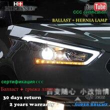 Hireno Headlamp for 2015-2017 Hyundai IX25 Crete Headlight Assembly LED DRL Angel Lens Double Beam HID Xenon 2pcs