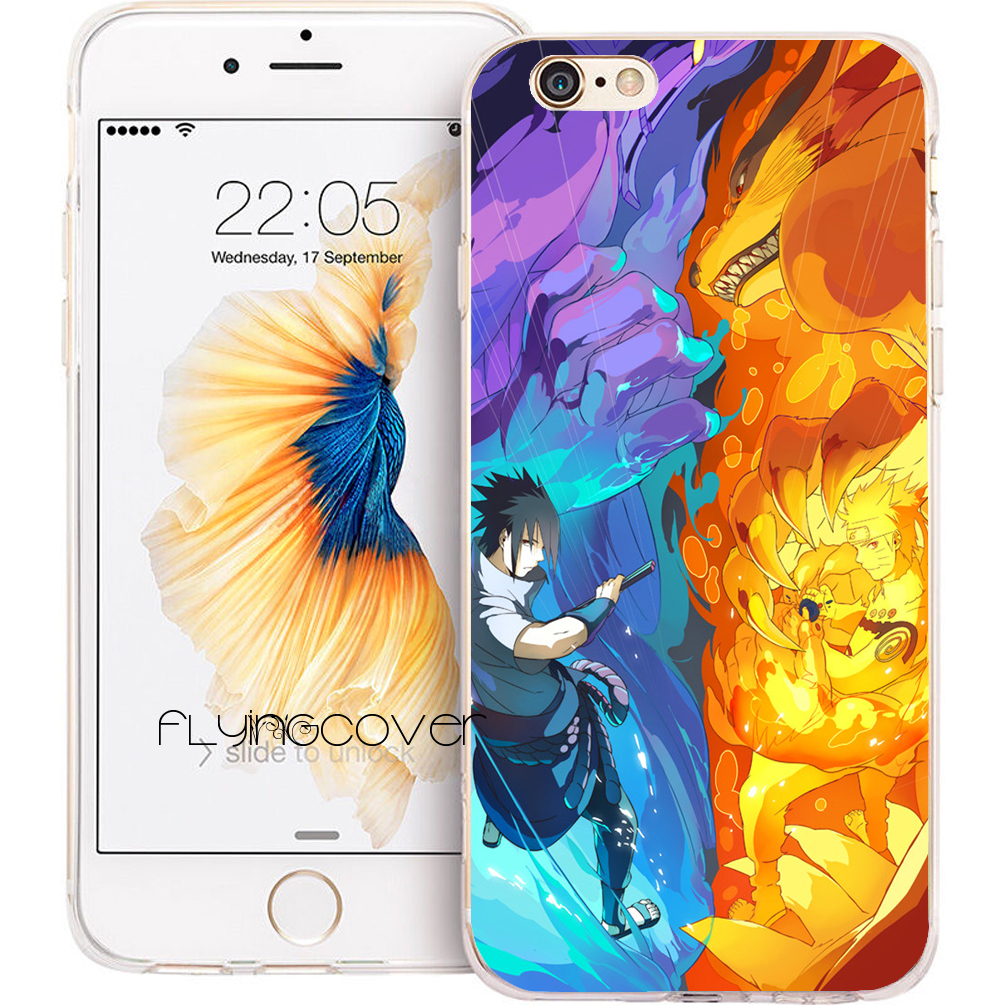 Coque Funda Sasuke Naruto Transparent Clear Soft TPU Phone Cases for iPhone X 7 8 Plus 5S 5 SE 6 6S Plus 4 iPod Touch 6 5 Cover