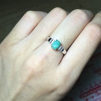 925 Sterling Silver 1 Karat Real Nature Emerald Solitaire Green Oval Fine Jewelry Hola Classical