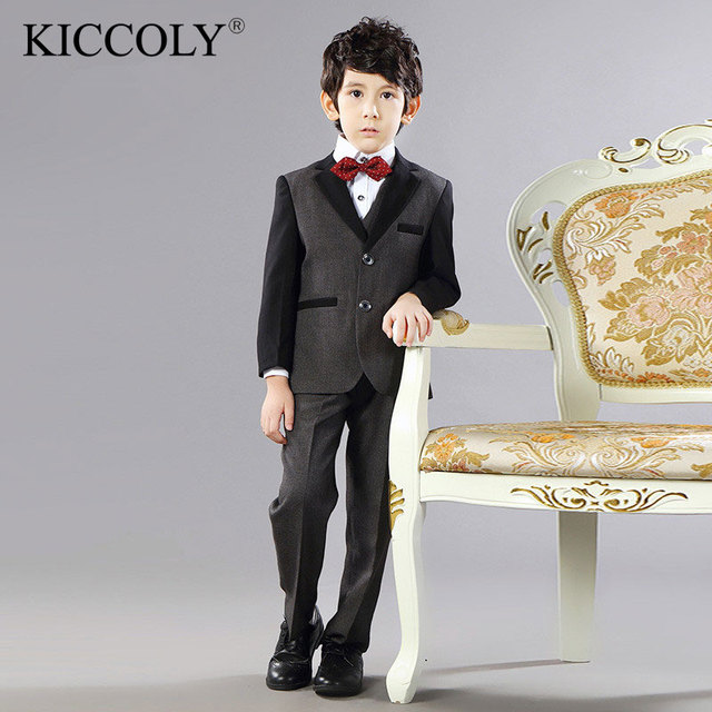 52a07ee170 2-15 T chłopcy garnitury ślubne zestawy dla dzieci Groom formalne Prom  Party komunia wydajność