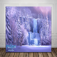 HUAYI birthday backdrop for frozen Computer Printed Photography Backdrop xt3889
