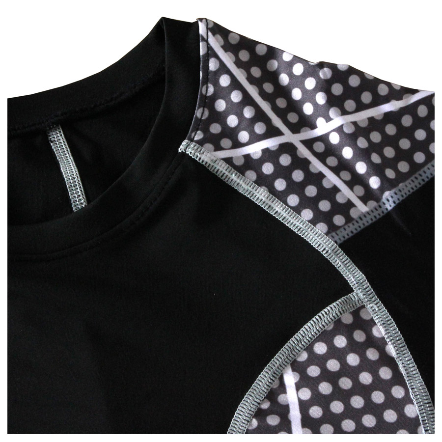 2018 Mens MMA Compression Shirt Tights Patchwork Long Sleeve T Shirt Men Fitness Bodybuilding Crossfit T-Shirts Tops Tees