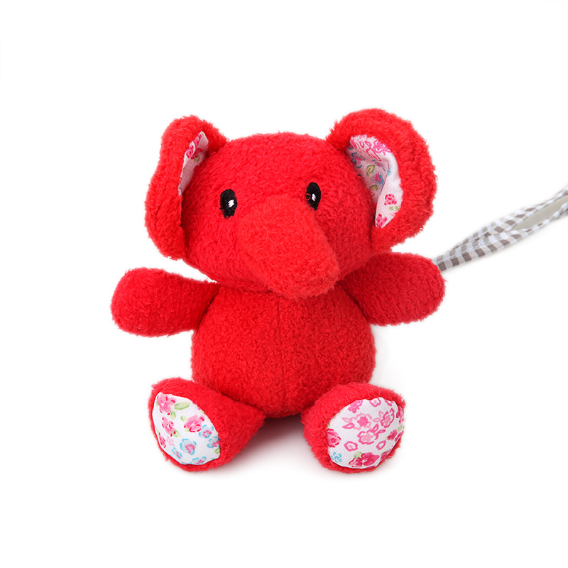 New cartoon cute multi purpose red elephant animal wind chime rattle hanging ornaments baby toys plush embroidery print doll in Baby Rattles Mobiles from Toys Hobbies