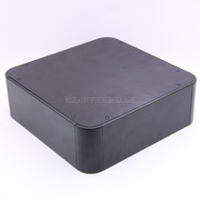 2020 novo preto cheio de alumínio preamplificador gabinete amplificador chassi áudio amp box diy escudo