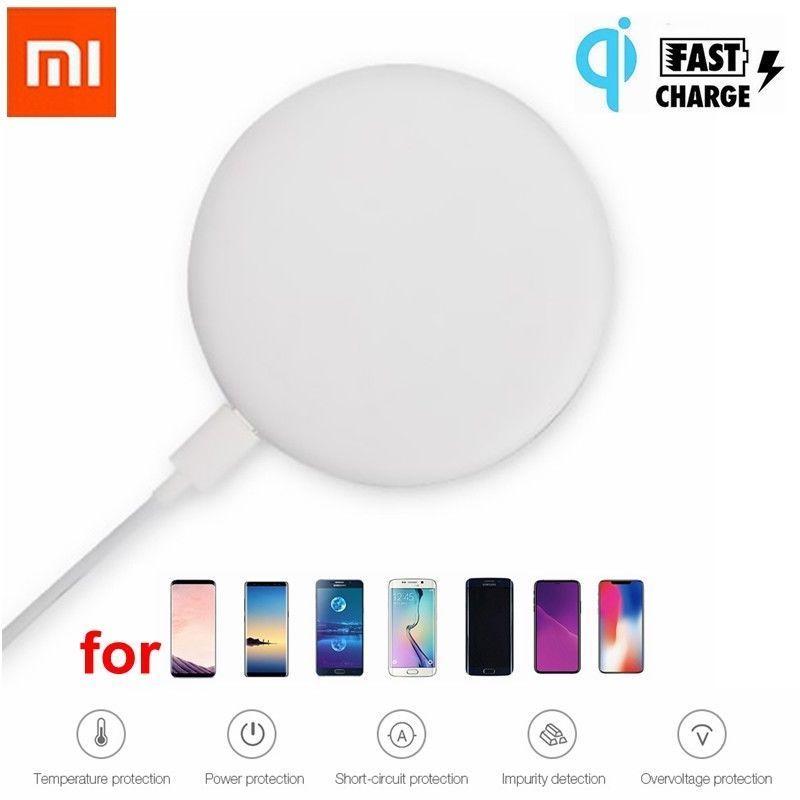 Origine Xiao mi mi qi chargeur Sans Fil De Charge Pad Pour Mi Mi x 2 s iphone X 8 plus sumsung s8 Smartphone