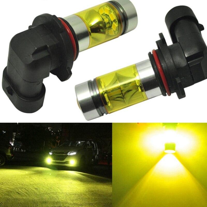 Professionelle Beleuchtung Kontrollleuchten Motiviert Led Nebelscheinwerfer H10 100 Watt 20led-black Gold Licht Weiß Nebelscheinwerfer Gelbe Led Projektor Lampe