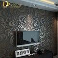 Alta calidad 0.7 m * 8.4 m Moderno de Lujo 3d flocado wallpaper rollo papel de parede mural de pared rayada papel 5 color R136