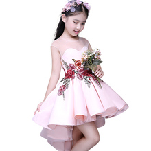 New Spring Summer Sleeveless Girls Dresses Princess Embroidered Flower Dress for Girls Clothes Birthday Wedding
