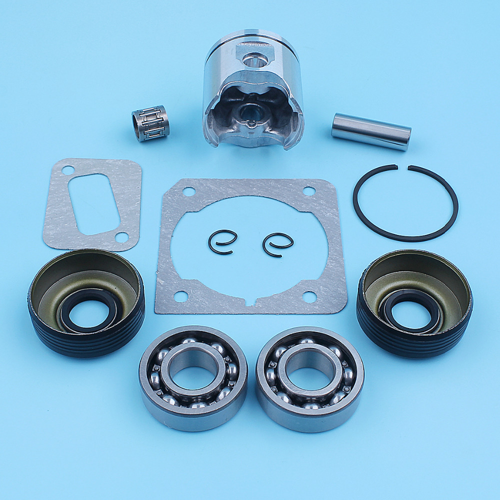 Image 4 - 40mm Piston Crank Ball Bearing Oil Seal Kit For Husqvarna 340 345 Jonsered 2141 2145 Chainsaw Ring Needle Cage Spare PartChainsaws   -
