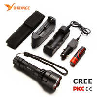 YAGE Flashlight 1000LM Aluminum Self Defense handheld flashlight LED Flashlight Lantern With 18650 Rechargeable Lithium Battery