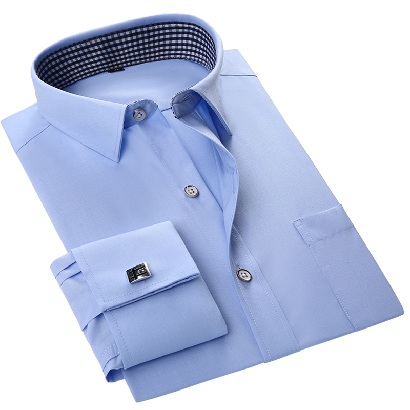 Popular Mens White Dress Shirt with Cufflinks-Buy Cheap Mens White ...