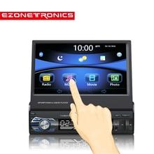 Бесплатная доставка автомобилей Радио Стерео gps Универсальный 7 «скольжения вниз Сенсорный экран 1DIN удаленного Управление FM Bluetooth MP3 MP5 аудио videoPlayer