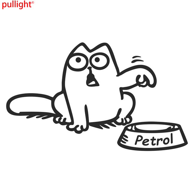 13 58cm petrol humour cat funny fuel cap decoration car sticker motorcycle suvs bumper car