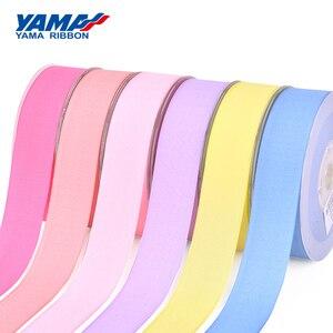 YAMA Polyester Grosgrain Edge Granulated Ribbon 9 16 19 25 38 mm and 3/8 5/8 3/4 1 1-1/2 inch 100Yards Printed Ribbons Bows(China)