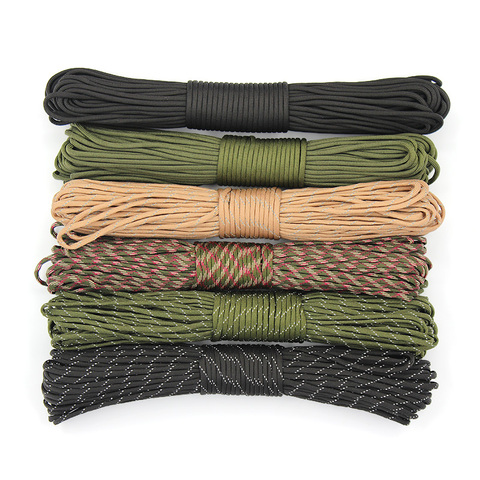 4 Size Dia.4mm 9 stand Cores Paracord for Survival Parachute Cord Lanyard Camping Climbing Camping Rope Hiking Clothesline Karachi